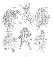 Rough poses breakdowns for Angel corps by gammaknight