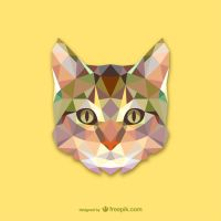 Cat Triangle (Vector) by HundredMelanie