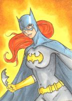Batgirl Sketch Card by wheels9696