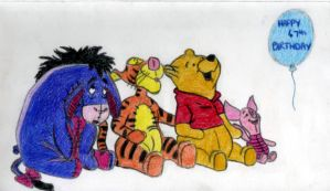Winnie the Pooh and friends by LemonSmoosh