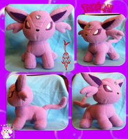 Espeon Plushie :Commission: by Ami-Plushies