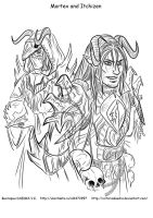Bad Dremora Guys by VictoriaDAEDRA