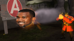Crusty Casts a Kanye Cannon Charge on his.. uhh.. by Professor-Heavy