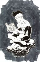 SDCC Invincible reading TWD by RyanOttley