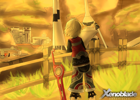 Xenoblade Chronicles: view of colony 9 by The-Rumored-One