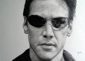 Neo - Keanu Reeves  Matrix by agusgusart