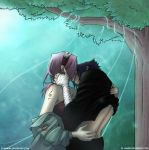 Kiss Under the Tree by Juhani