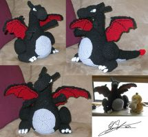 Shiny Charizard Crochet Doll by Anonymous-Mystique