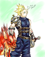 Grumpy Cloud and Mutated Red by BardicSpoon