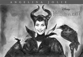 Arts Of Angelina Jolie-malficent by chengxiangarts