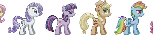 Mane 6 Sprite Collection -Discord Edition by Viral-Code