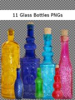 Glass Bottle Pack by Fire-Fuel