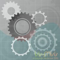 Gears - engrenagem background by isis-misis