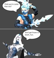 Injustice: Frost vs Killer Frost by xXTrettaXx