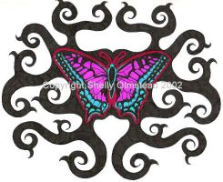 Vine Butterfly by PoisonAlice