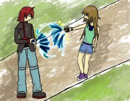 Pokemon- Silver Vs. Leaf by L-and-cake16