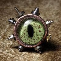 Steampunk Eye Tie Tack by CatherinetteRings