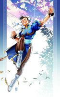 CHUNLI ON BLUE by AdmiraWijaya