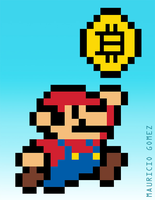 Super Bitcoin Pixel by Insanemoe