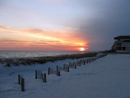 Destin winter sunset by quiltingrobbie