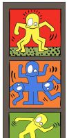 MsGothje meets Keith Haring by MsGothje