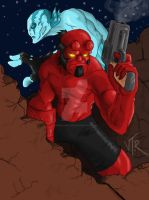 Hellboy abe  back in business by DominicanFlavor
