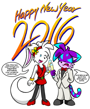 Happy New Year 2016 by NekoAmine