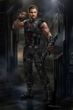 The Avengers- Hawkeye 02 by andyparkart