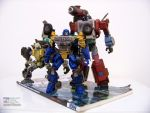 Wreckers Ironfist, Guzzle and Perceptor by WheelJack-S70