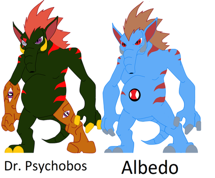Reboot char's. Dr.Psychobos and Albedo Psychederm by TheWalrusclown