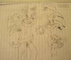 Sonic the hedgehog in clothes plus chibis by DannyRoseHedgeWolf