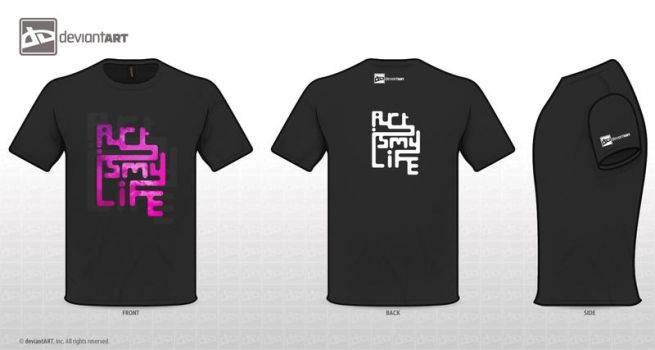 Art Is My Life T-shirt by BLACKLIGHT8