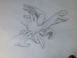 Hands study by I34bz