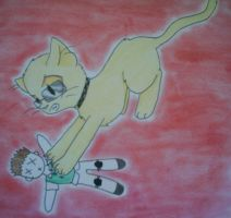 Wesker Kitty Takes His Revenge by TEH-beXki