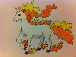 Rapidash request :3 by Yoshski