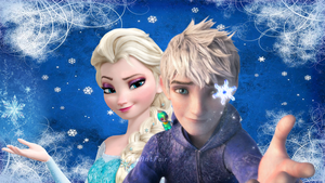Jack and Elsa- Snowflakes forever by AntFair