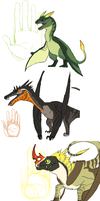 Wyvern designs part 2 by umbbe