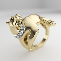 Panther ring by MikeeRice