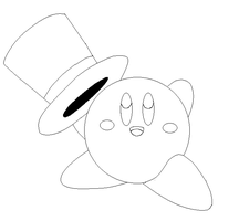 kirby lineart1 by michy123