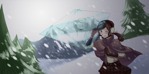 Challenging the Blizzard by Timidemerald