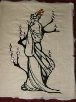 Embroidered Geisha by nizati