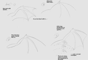 basic how to draw bat wings by lindsy95