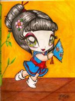 Final chibi geisha by TattooedMorrigan