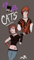CATS as people by Callica