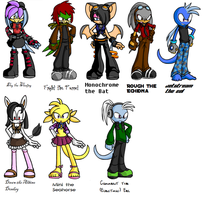 Sonic Furry OCs by MorganCluelessGoat