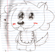 New OC: Cloudy the Sheep-Dog by Cracky-Fox