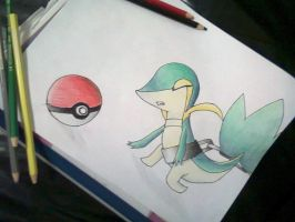 Snivy chained by AbirAhmed