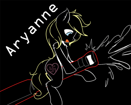 Aryanne Neon Glowing by AlphaPonz