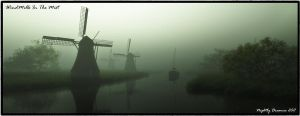 Windmills In The Mist by NightlyDreamer