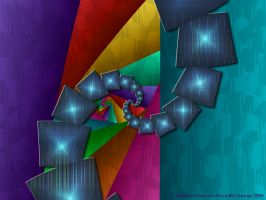 Fractal Cubism Wallpaper by rocamiadesign
